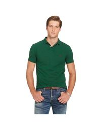 Polo Ralph Lauren | Green Slim-fit Mesh Polo Shirt for Men | Lyst