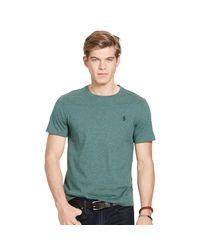 Polo Ralph Lauren   Green Custom-fit Cotton T-shirt for Men   Lyst