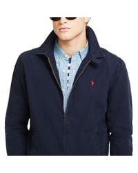 Polo Ralph Lauren - Blue Cotton Poplin Windbreaker for Men - Lyst