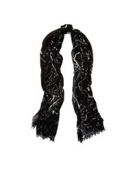 Polo Ralph Lauren - Black Paint Splatter Cotton Scarf - Lyst