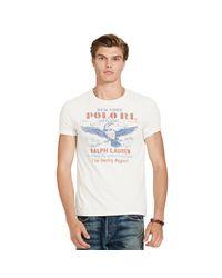 Polo Ralph Lauren - White Custom-fit Cotton T-shirt for Men - Lyst