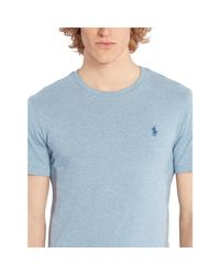 Polo Ralph Lauren - Blue Custom-fit Cotton T-shirt for Men - Lyst