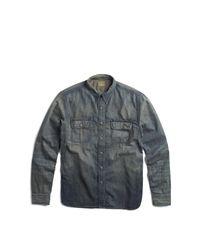 RRL - Gray Denim Workshirt for Men - Lyst