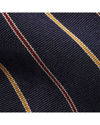 Polo Ralph Lauren - Blue Striped Silk Repp Narrow Tie for Men - Lyst