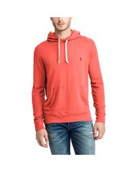 Polo Ralph Lauren | Red Classic Fit Spa Terry Hoodie for Men | Lyst
