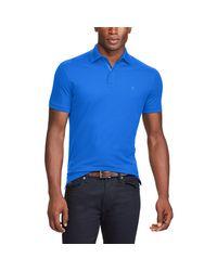 Ralph Lauren Purple Label - Blue Zip-placket Stretch Piqué Polo for Men - Lyst