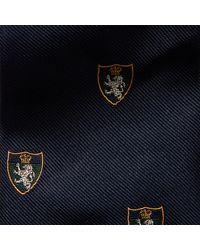 Ralph Lauren Purple Label - Blue Silk Club Tie for Men - Lyst