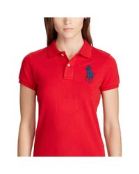 Polo Ralph Lauren - Red Skinny-fit Big Pony Polo Shirt - Lyst