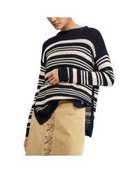 Polo Ralph Lauren - Black Striped Linen Sweater - Lyst