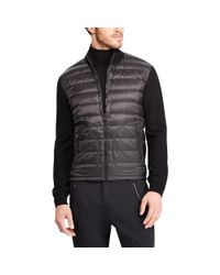 Ralph Lauren Purple Label - Black Rlx Hybrid Down Jacket for Men - Lyst