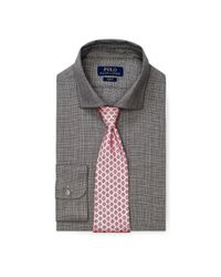 Polo Ralph Lauren - Gray Slim Fit Cotton Dress Shirt for Men - Lyst