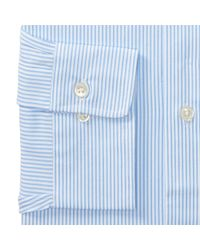 Polo Ralph Lauren - Blue Slim Fit Striped Dobby Shirt for Men - Lyst