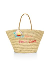 Rebecca Minkoff | Natural Straw Tote-beach Hair Don't Care | Lyst