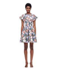 Rebecca Taylor | Multicolor Penelope Ruffle Dress | Lyst