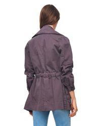 Rebecca Taylor - Purple La Vie Stretch Twill Military Coat - Lyst