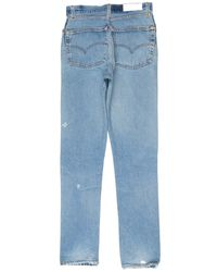 Re/done - Blue High Rise - Lyst