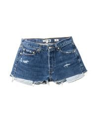 Re/done | Blue The Short | Lyst