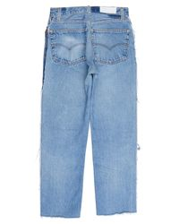 Re/done - Blue High Rise Ankle Crop Exposed Zip for Men - Lyst