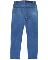 Re/done - Blue Relaxed Taper Denim Patch - Lyst