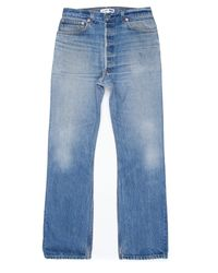 Re/done | Blue High Rise Bootcut for Men | Lyst