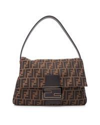 42831760d9dc Lyst - Fendi Pre-owned Big Mama Shoulder Bag in Black