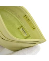 Chanel - Lime Green Leather Card Case - Lyst