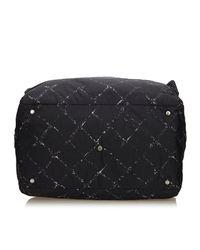 Chanel - Black Old Travel Line Duffel Bag - Lyst