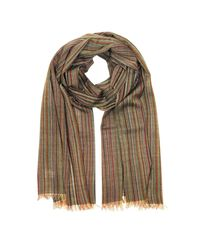 Paul Smith - Gray Signature Stripe Mercerized Wool Men's Scarf for Men - Lyst
