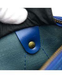 Louis Vuitton - Vintage Speedy 25 Blue Epi Leather City Hand Bag - Lyst