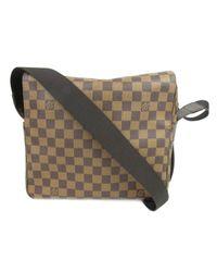 e18a3a4981ca Louis Vuitton. Women s Naviglio Shoulder Bag Crossbody Bag N45255 Damier  Brown