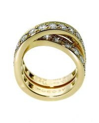 Cartier - Metallic Nouvelle Vague Diamond Bypass Gold Ring - Lyst