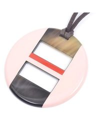 Hermès - Pink Ops Necklace Buffalo Horn / Lacquer Rouge Carmine / Rose Budoir - Lyst