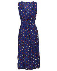 Moschino - Blue Patterned Viscose Dress - Lyst