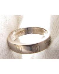 Cartier - Metallic Auth Happy Birthday Ring K18wg (750) White Gold - Lyst