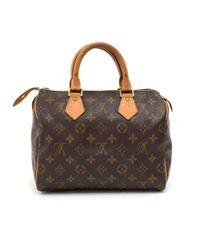 Louis Vuitton - Brown Speedy 25 Monogram Canvas City Hand Bag - Lyst