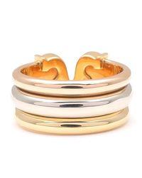 Cartier - Metallic 2c Ring Lm Three Color K18 Yg/wg/pg #49 Us5-5.5 Hk11 Eu50 - Lyst
