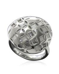 Louis Vuitton - Metallic Berg Monogram Galea Ring 18k K18 Wg 750 Size51 90012001.. - Lyst