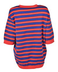 Givenchy - Red Oversize Striped Knitwear - Lyst