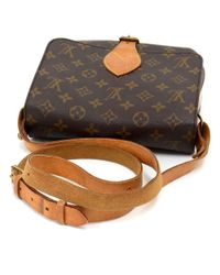 Louis Vuitton - Brown Vintage Cartouchiere Mm Monogram Canvas Shoulder Bag - Lyst