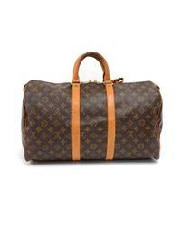 Louis Vuitton - Brown Vintage Keepall 45 Monogram Canvas Duffle Travel Bag - Lyst