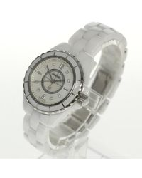Chanel - J12 White Ceramic 8p Diamond H2570 Ladies Quartz 18044 Pre-owned for Men - Lyst