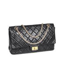 6336c66db48 Lyst - Chanel Sac 2.55 Cuir Vieilli Noir   in Black