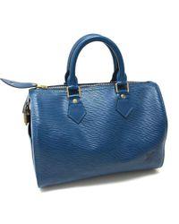 Louis Vuitton - Epi Speedy 25 Tote Bag Mini Duffle Bag Hand Bag Blue Epi Leather/ M43015 - Lyst