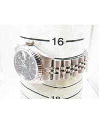 Rolex - Metallic Datejust Watch Total Number 69174 Automatic Black Series Ss / Wg - Lyst