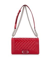 09b81d0b4908 Lyst - Chanel Pre-owned Medium Boy Flap Bag in Red