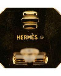 Hermès - Metallic Horse Clip On Earrings - Lyst