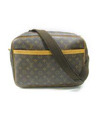 51b2b0db2084 Lyst - Louis Vuitton Reporter Gm Shoulder Bag M45252 Monogram Brown ...