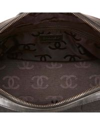 Chanel - Black Choco Bar Canvas Shoulder Bag - Lyst