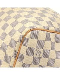 Louis Vuitton - White Keepall 55 Bandouliere Damier Azur Duffel Travel Bag + Strap - Lyst