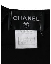 Chanel - Sleeveless Tops Back Button Here Mark Rayon Black 02p - Lyst